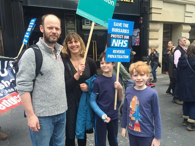 Jamie & Family on NHS march